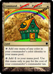 Instructions to Art Dept: Epic house, complete with rainbows. Probably on a hill. Could you do at least one of these a year? Thanx--