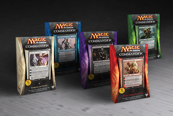 The Commander 2014 decks are a great way to get started playing Commander.